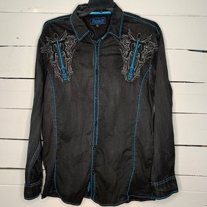 Roar Signature Western Shirt Size XXL